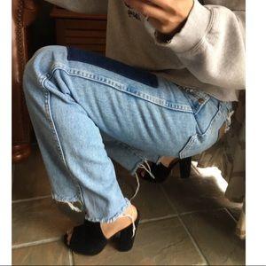 Vintage Wrangler reworked boyfriend fit jeans